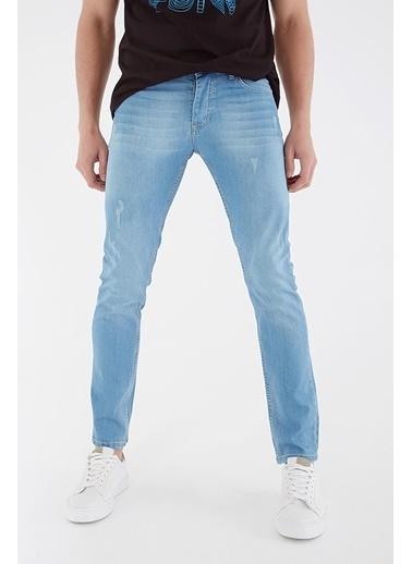 Modaset Slim Fit Jean Pantolon Mavi Mavi